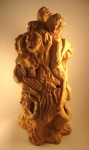 "Garcia_Chris- ""Cultivators"" 2010, ceramic, 17 ""H x 8""Wx 8""D 500 pixel copy 2 copy 3"
